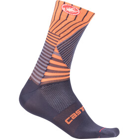 Castelli Pro Mesh 15 Calcetines Hombre, dark steel blue/orange